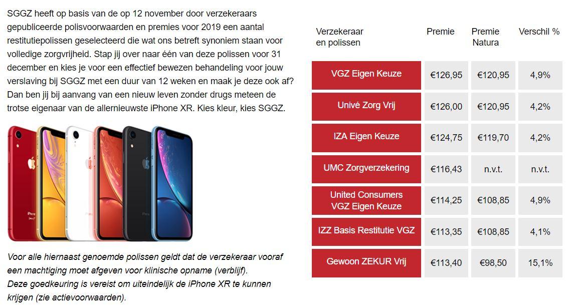 Iphone Cadeau Bij Zorg Uit Restitutiepolis Zorgverzekering